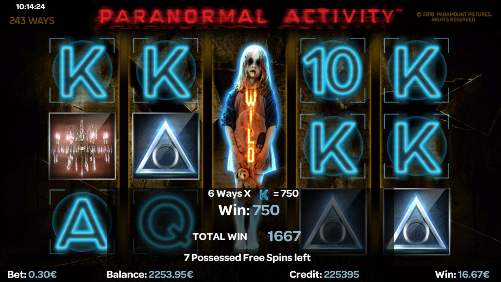 New Paranormal Activity Slot From ISoftbet